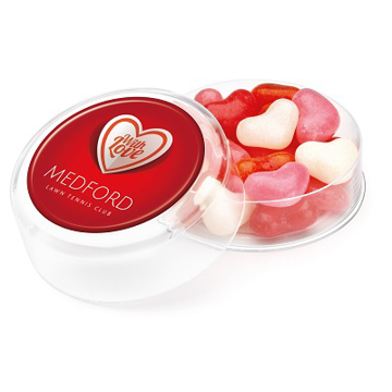 Picture of Branded Pot of Heart Shaped Jelly Beans