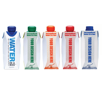 Eco friendly water in a box promotional water