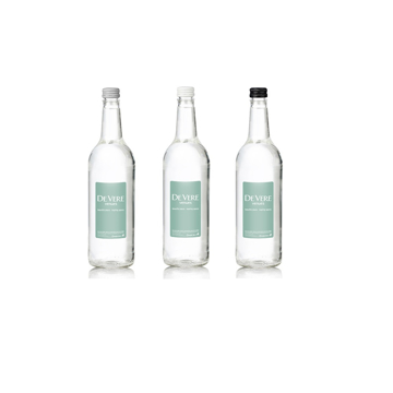 750ml Glass bottled water with printed label for conferences