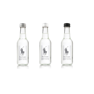 330ml Glass bottle of water with personalised label