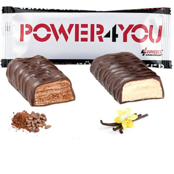 two flavoured branded protein bars