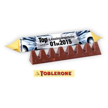 A mini branded toblerone