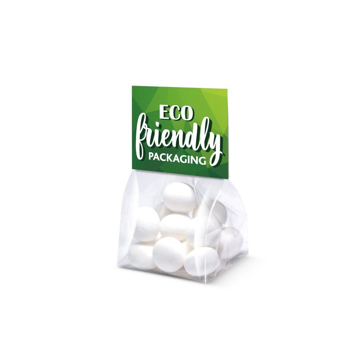 A small branded bag of mint imperials