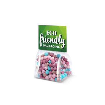 a clear bag of Millions sweets