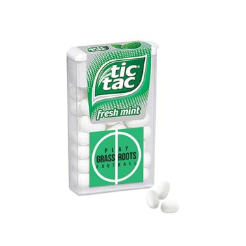 A box of branded tictacs
