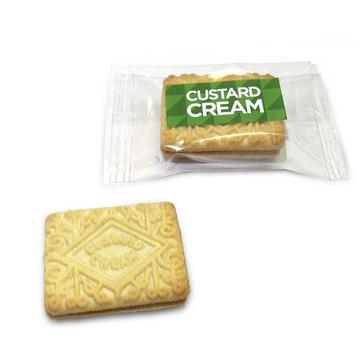2 custard creams wrapped in branded packaging