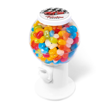 sweet dispenser filled with jelly beans