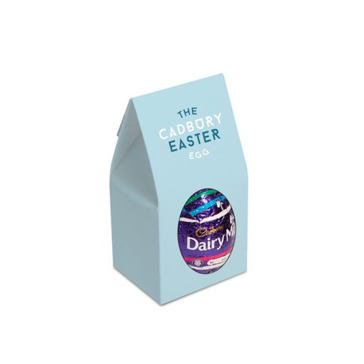 Cadburys easter egg in a branded card outer box